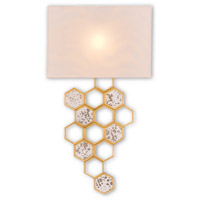 Mielleux 1 Light 16 inch Contemporary Gold Leaf and Raj Mirror Wall Sconce Wall Light, Right