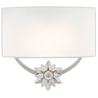 Currey & Company 5900-0032 Dayflower 1 Light 15 inch Polished Nickel/White ADA Wall Sconce Wall Light