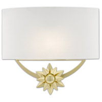 Currey & Company 5900-0033 Dayflower 1 Light 15 inch Polished Brass/White ADA Wall Sconce Wall Light