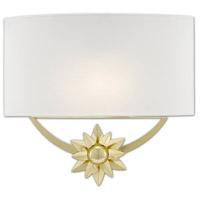 Currey & Company 5900-0033 Dayflower 1 Light 15 inch Polished Brass/White ADA Wall Sconce Wall Light
