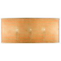 Currey & Company 5900-0034 Prothero 3 Light 22 inch Antique Gold Leaf/Painted Antique Gold ADA Wall Sconce Wall Light