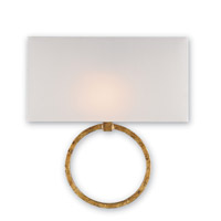 Currey & Company Porthole 1 Light Wall Sconce in Gold Leaf 5902