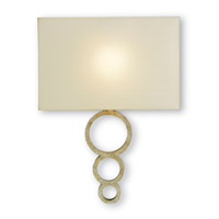 Currey & Company Pembroke 1 Light Wall Sconce in Silver Granello 5906
