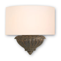 Currey & Company Fitzwalter 1 Light Wall Sconce in Nevo Oro Antico Gold and Antique Verdigris 5911