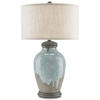 Chatswood 15 inch 150 watt Blue-Green / Gray / Hiroshi Gray Table Lamp Portable Light