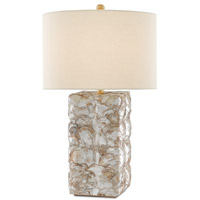 Currey & Company 6000-0134 La Peregrina 29 inch 150 watt Natural Capiz/Gold Leaf Table Lamp Portable Light