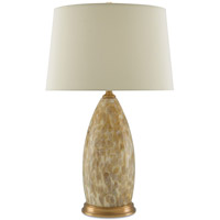 Dia 28 inch 150 watt Beige Marbled Pattern and Antique Brass Table Lamp Portable Light