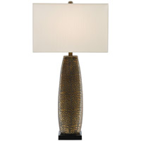 Pablo 33 inch 150 watt Antique Gold and Black Table Lamp Portable Light