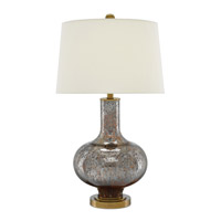 Fernando 31 inch 150 watt Dark Brown Mercury and Antique Brass Table Lamp Portable Light