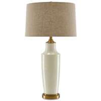 Aidy 32 inch 150 watt Cream and Antique Brass Table Lamp Portable Light