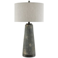 Currey & Company 6000-0173 Celadon 35 inch 150 watt Distressed Green and Gray Table Lamp Portable Light