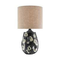 Ginza 37 inch 150 watt Black and Tan Pattern Table Lamp Portable Light