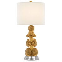 Ms. Poodle 32 inch 150 watt Royal Gold and Clear Table Lamp Portable Light