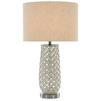 Carlyn 30 inch 150 watt Cream and Black Brushed Nickel Table Lamp Portable Light