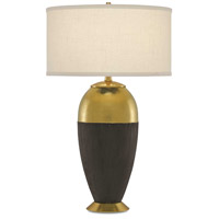 Maia 29 inch 150 watt Gold and Matte Black Table Lamp Portable Light