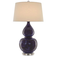 Currey & Company 6000-0289 Kolor 36 inch 150 watt Blue and Antique Nickel Table Lamp Portable Light