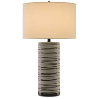 Blaire 30 inch 150 watt Matte White and Green Table Lamp Portable Light