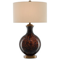 Currey & Company 6000-0341 Kea 31 inch 150 watt Root Beer and Antique Brass Table Lamp Portable Light