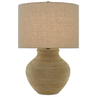 Currey & Company 6000-0427 Hensen 31 inch 150 watt Natural and Satin Black Table Lamp Portable Light