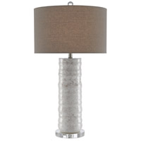 Currey & Company 6000-0432 Pila 34 inch 150 watt Ivory/Taupe Table Lamp Portable Light