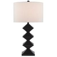 Currey & Company 6000-0441 Pelor 31 inch 150 watt Mole Black Table Lamp Portable Light