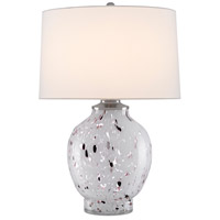 Currey & Company 6000-0443 Bankshire 27 inch 150 watt White/Purple/Clear/Satin Nickel Table Lamp Portable Light