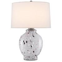 Currey & Company 6000-0443 Bankshire 27 inch 150 watt White/Purple/Clear/Satin Nickel Table Lamp Portable Light