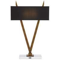 Currey & Company 6000-0451 Willemstad 31 inch 25 watt Antique Brass/Clear Table Lamp Portable Light
