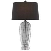 Currey & Company 6000-0453 Alesandria 32 inch 150 watt White/Black Table Lamp Portable Light