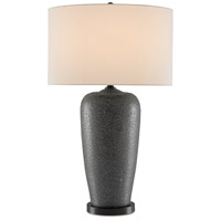 Currey & Company 6000-0461 Fuscous 31 inch 150 watt Textured Gray Table Lamp Portable Light