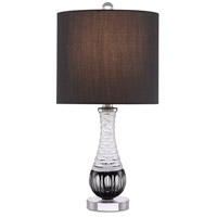 Currey & Company 6000-0471 Sanchez 21 inch 100 watt Frosted/Black/Clear/Polished Nickel Table Lamp Portable Light