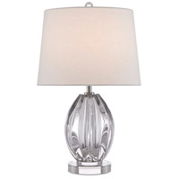 Currey & Company 6000-0472 Monterey 23 inch 150 watt Clear/Polished Nickel Table Lamp Portable Light