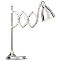 Currey & Company 6000-0478 Reeves 21 inch 7 watt Polished Nickel Desk Lamp Portable Light with Adjustable Arm