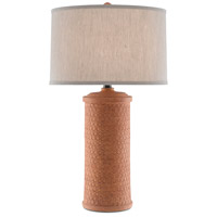 Currey & Company 6000-0488 Mesoma 34 inch 150 watt Speckled Terracotta/Bronze Gold Table Lamp Portable Light