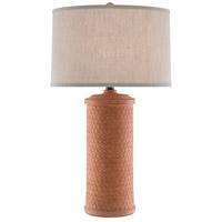 Currey Company 6000 0488 Mesoma 34 Inch 150 Watt Speckled Terracotta Bronze Gold Table Lamp Portable Light