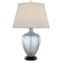 Currey & Company 6000-0495 Radix 26 inch 150 watt Pale Blue/Black Table Lamp Portable Light