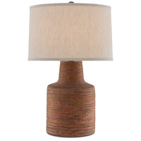Currey & Company 6000-0499 Crossroads 30 inch 150 watt Rough Terracotta/Satin Black Table Lamp Portable Light
