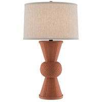 Currey & Company 6000-0502 Brigade 34 inch 150 watt Speckled Terracotta/Satin Black Table Lamp Portable Light