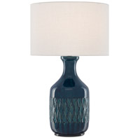 Currey & Company 6000-0515 Samba 29 inch 150 watt Ocean Blue Table Lamp Portable Light