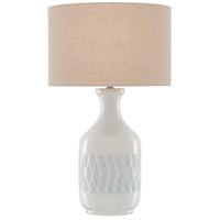 Currey & Company 6000-0516 Samba 29 inch 150 watt White/Sky Blue Table Lamp Portable Light
