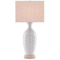 Currey & Company 6000-0517 Saraband 32 inch 150 watt Sky Blue/Cream Table Lamp Portable Light
