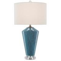 Currey & Company 6000-0518 Tarantella 31 inch 150 watt Blue/Clear/Antique Nickel Table Lamp Portable Light