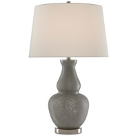 Currey & Company 6000-0521 Courante 31 inch 150 watt Gray/Antique Nickel Table Lamp Portable Light