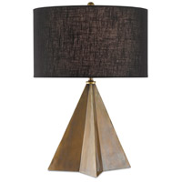 Currey & Company 6000-0526 Stargrass 23 inch 75 watt Vintage Brass Table Lamp Portable Light