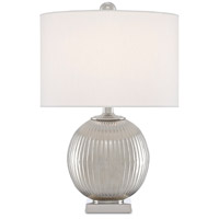 Currey & Company 6000-0528 Walpole 20 inch 75 watt Nickel Table Lamp Portable Light