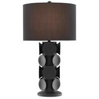 Currey & Company 6000-0540 Tentecolo 32 inch 150 watt Black/Satin Black Table Lamp Portable Light