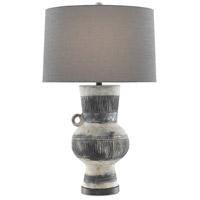 Currey & Company 6000-0541 Storrs 32 inch 150 watt Crumble Cream/Black/Black Iron Table Lamp Portable Light