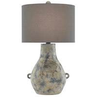 Currey & Company 6000-0542 Sanger 28 inch 150 watt Crumble Cream/Black/Satin Black Table Lamp Portable Light