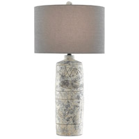 Currey & Company 6000-0543 Sikes 31 inch 150 watt Crumble Cream/Black/Satin Black Table Lamp Portable Light