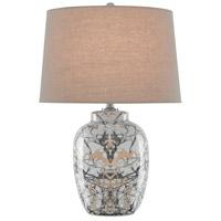Currey & Company 6000-0554 Fabiola 25 inch 150 watt Gray/Black/Bronze/Satin Nickel Table Lamp Portable Light